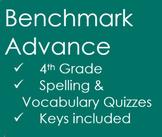 Benchmark Advance Unit 1 & Unit 2 Quiz Bundle