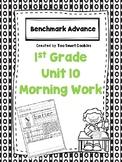 Benchmark Advance Unit 10 First Grade Morning Work