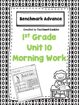 Benchmark Advance Unit 10 First Grade Morning Work
