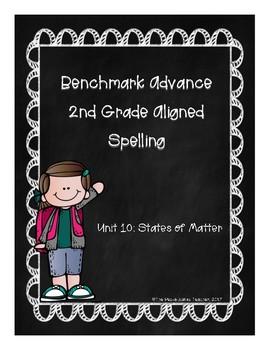 Benchmark Advance Unit 10 Supplemental Spelling Resources 2nd Grade