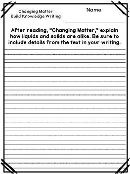Benchmark Advance Unit 10 Writing Prompts (2nd Grade)