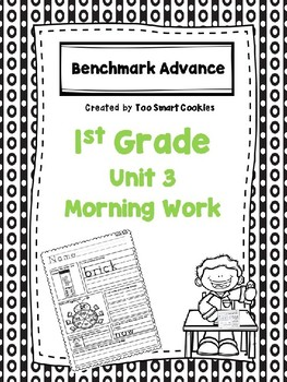 Benchmark Advance Unit 3 First Grade Morning Work