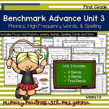 Benchmark Advance First Grade Unit 3 Supplemental Phonics