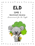 Benchmark Advance 3rd Grade Unit 1 ELD Companion