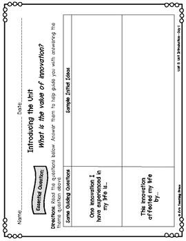 Benchmark Advance-Unit 5: Advancements in Technology (3rd Grade)