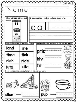 Benchmark Advance Unit 6 First Grade Morning Work