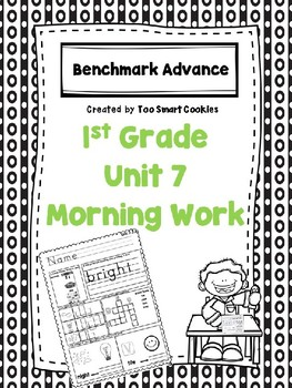 Benchmark Advance Unit 7 First Grade Morning Work