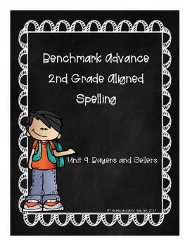 Benchmark Advance Unit 9 Supplemental Spelling Resources 2nd Grade