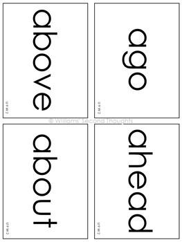 Benchmark Advance-Unit 9 Word Lists (Grade 2)