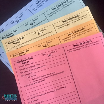 Benchmark Advance Planning Templates by Markers and Minions
