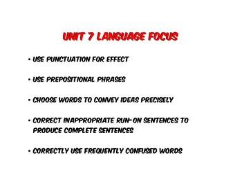 Benchmark Advance Units 1-10 Language Focus 4th Grade