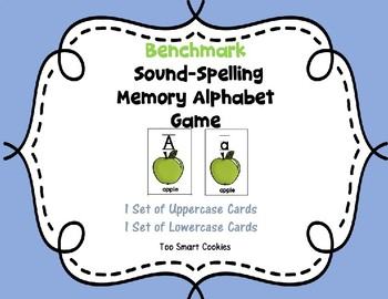 5e.  Benchmark Advance Sound-Spelling  Upper & Lower ABC Memory Cards