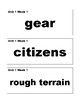 Benchmark Advance Vocabulary Cards 2nd (Second) grade Simple Style