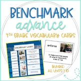 Benchmark Advance Vocabulary Cards 4th Grade Bundle
