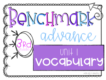 Benchmark Advance Vocabulary Grade 3 Unit 1