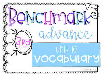 Benchmark Advance Vocabulary Grade 3 Unit 10