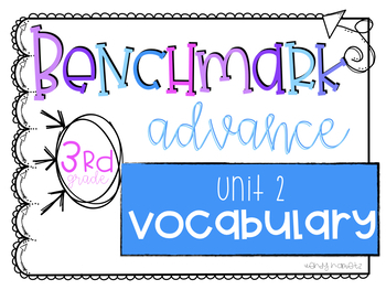 Benchmark Advance Vocabulary Grade 3 Unit 2