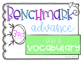 Benchmark Advance Vocabulary Grade 3 Unit 8