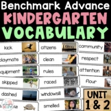 Benchmark Advance Vocabulary Kindergarten | Unit 1 and 2