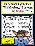 Benchmark Advance Vocabulary Posters 1st Grade (Ca. and National)
