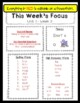 Benchmark Advance Weekly Focus Flyer for 1st Grade (Ca. and National) EDITABLE
