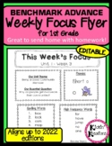 Benchmark Advance Weekly Focus Flyer for 1st Grade Units 1-10