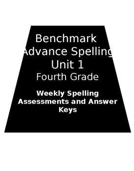 Benchmark Advance Weekly Spelling Assessments Fourth Grade: Unit 1