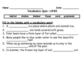 Benchmark Advance Second Grade Weekly Vocabulary Quizzes (National)