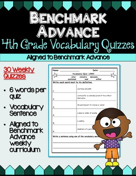 Benchmark Advance Fourth Grade Weekly Vocabulary Quizzes (B.A. Companion)