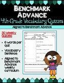 Benchmark Advance Fourth Grade Weekly Vocabulary Quizzes