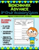 Benchmark Advance Third Grade Weekly Vocabulary Quizzes