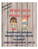Benchmark Advance Weekly Word Sorts, Unit 10