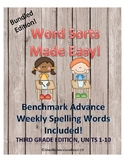 Benchmark Advance Weekly Word Sorts, Units 1-10 BUNDLE!!
