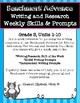 Benchmark Advance Weekly Writing and Research Skills & Prompts* Grade 3