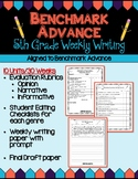 Benchmark Advance Fifth Grade Weekly Writing - Units 1 - 10 (B.A.Companion)