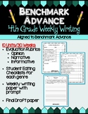 Benchmark Advance Fourth Grade Weekly Writing Units 1 - 10