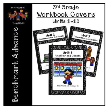 Workbook Covers- Units 1-10 (3rd Grade- Benchmark Advance)