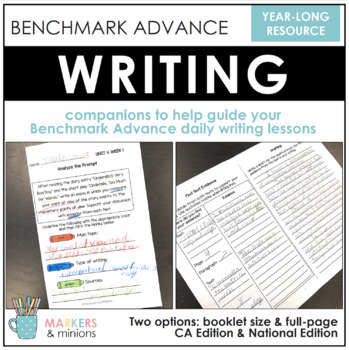 Fifth Grade (5th Grade) Writing Booklets (Benchmark Advance)