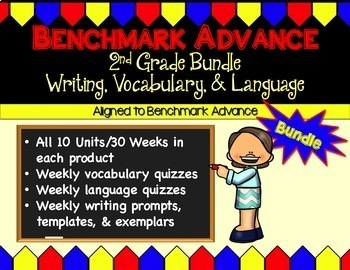 Benchmark Advance Writing, Language, and Vocabulary Bundle for Second Grade