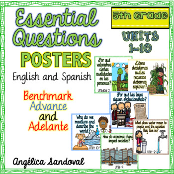 Benchmark Advance and Adelante Essential Question Posters 5th GRADE