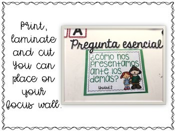 Benchmark Advance and Adelante Essential Question Posters 4th GRADE
