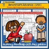 Benchmark Advance -  First Grade UNIT 1 Supplemental Phonics, HFW, and Spelling