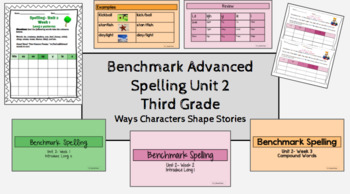 Benchmark Advanced Spelling, Grade 3 Unit 2 Supplemental Material