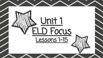 Benchmark Advanced Second Grade ELD Focus Wall Unit 1 (Lessons 1-15)