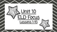 Benchmark Advanced Second Grade ELD Focus Wall Unit 10 (Lessons 1-15)