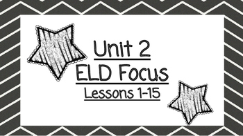 Benchmark Advanced Second Grade ELD Focus Wall Unit 2 (Lessons 1-15)