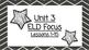 Benchmark Advanced Second Grade ELD Focus Wall Unit 3 (Les