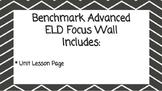 Benchmark Advanced Second Grade ELD Focus Wall Unit 4 (Lessons 1-15)
