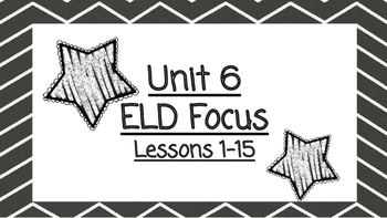 Benchmark Advanced Second Grade ELD Focus Wall Unit 6 (Lessons 1-15)