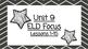 Benchmark Advanced Second Grade ELD Focus Wall Unit 9 (Les